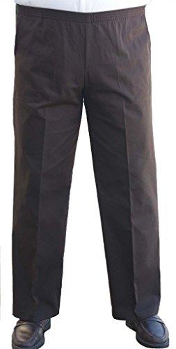 Buy cheap the senior shop mens full elastic waist twill casual pant brown