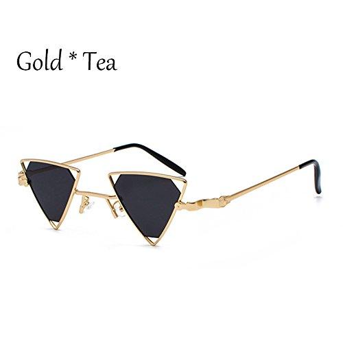oro Hombre TL gris C1 UV de de lujo sol Triángulo sol Gray Gafas Gafas Gold gafas de G389 de Mujer C1 Tonos Sunglasses II4rqHwS