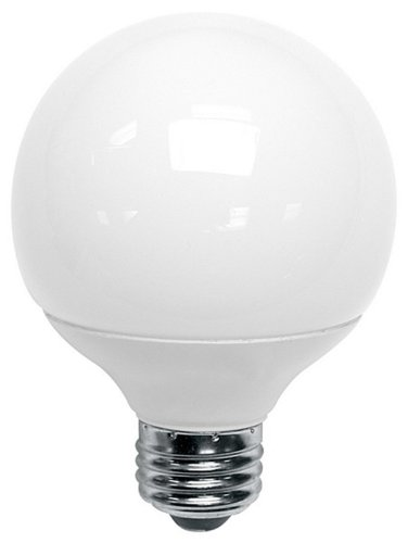 Compact Hour 8000 2700k - TCP 8060092 - 9 Watt G25 Compact Fluorescent Globe Light Bulb, 2700K, 2 Pack