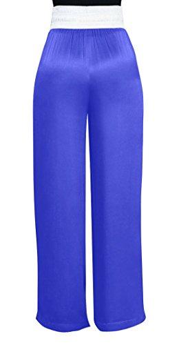 Casual Long Taille Pantalon Jambe Bandage Haute Femmes De Plage Freestyle Rayée Trousers Lâche Large Bleue Épissure Pants Fashion Avec Jeune Couleur vP7xqw