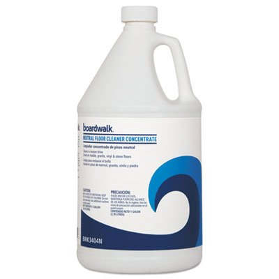 Boardwalk 3404N Neutral Floor Cleaner Concentrate Lemon Scent 1 gal Bottle 4/Carton