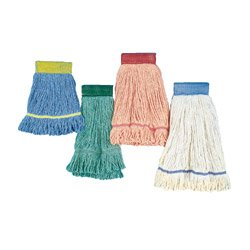 UNISAN Super Loop Wet Mop Heads, Cotton/Synthetic, Large Size, Orange (503OR)