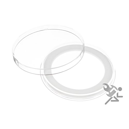 (25) Air-tite Y-50mm White Ring Coin Holder Capsules for 2