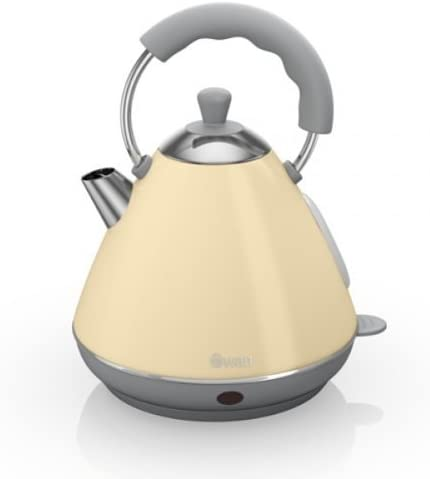 Swan Retro Cream Pyramid Kettle - 2 Litre