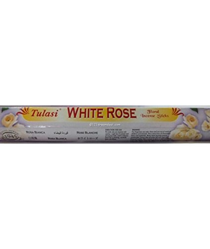 - White Rose - 8 Gram Square Pack - Tulasi Incense