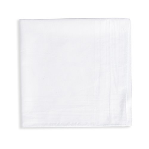 EcoHanky 100% Cotton Men's Handkerchiefs with Hem White 12 Pieces by EcoHanky (Image #4)