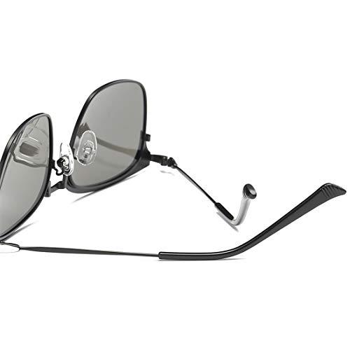 Sakuldes Mujer Hombre Black UV de Metal con con Sol Gafas Blue Retro Retro Sol para Black Lens protección Gafas Black de Marco de Lens Frame Medio Color y Frame Estilo UwrRqUxB