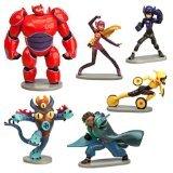 Big Hero 6 Figure Play Set - 6 Pcs Set Hiro Baymax Mech (Red) Go Go Honey Lemon Wasabi Fred by Big Hero 6]()