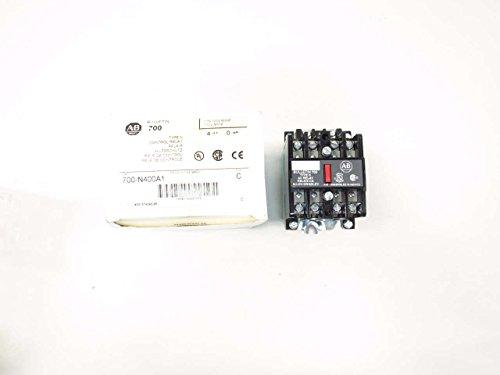 NEW ALLEN BRADLEY 700-N400A1 CONTROL RELAY SER C 120V-AC D522130