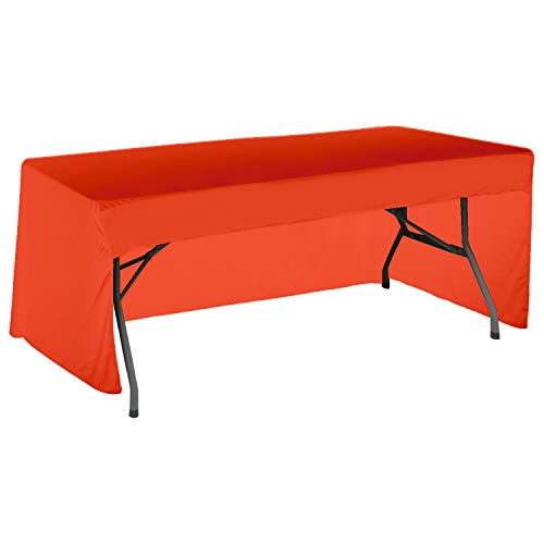ABCCANOPY 6 FT Rectangle Tablecloth Table Cover for Rectangular Tables in Washable Polyester-Great for Buffet Table, Parties, Holiday Dinner, Wedding & More(Orange) -