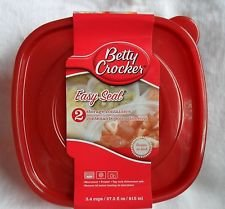 Betty Crocker Easy Seal Storage Containers, 30.3 Fl Oz, 2...