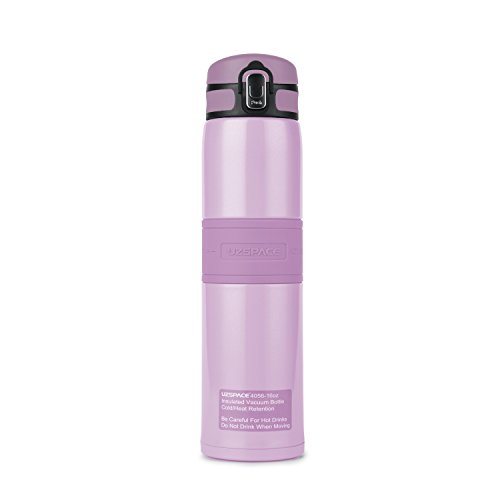 Super Heat Retention ,Stainless Steel Vacuum Insulated Water Bottle for Outdoors Sports,Yoga ,Camping,Flip Cap Non-slip Wide Spout BPA-Free,(16 oz Purple) - Low Level Spout