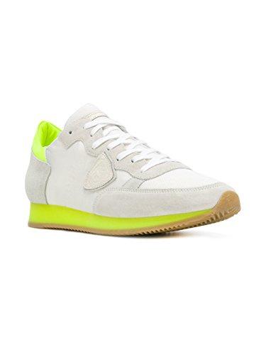 Philippe Model Herren Sneaker Weiß Weiß/Gelb