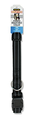 "Aspen Pet Products Reflective Adjustable Collar Pad, 26"", Black"
