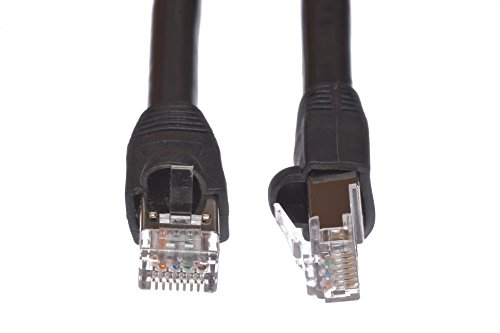 Cables.com 100 Feet Cat5e Outdoor Waterproof Shielded Direct Burial Ethernet Cable ()