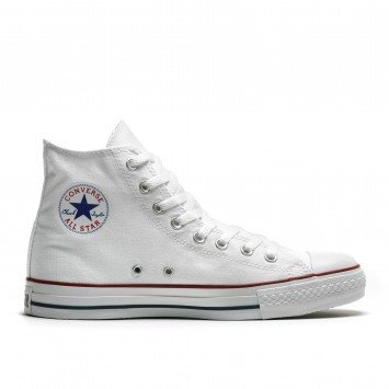 WHITE Converse Hi Tops UK 5