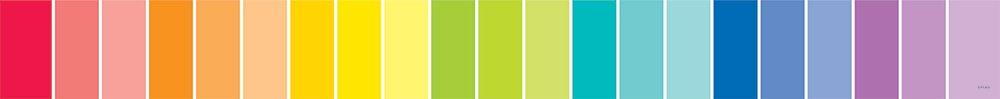Painted Palette Rainbow Paint Chip Border Classroom Display Border