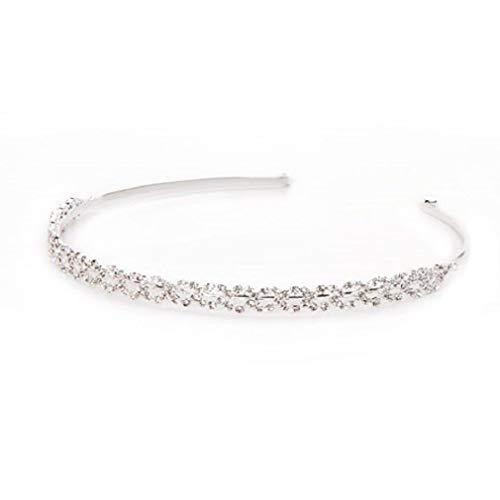 Victoria Jewelry Armoire - Melonie Home Victoria Tiara Headband - Silver - Rhinestones
