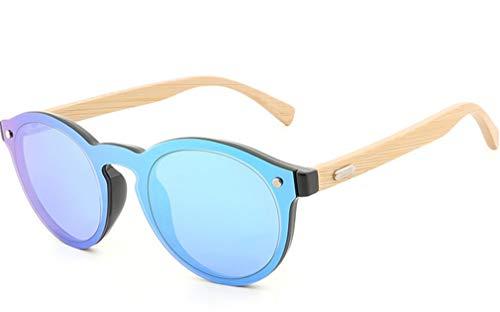 de en Gafas Sol Azul de Madera bambú Gafas Forma XIYANG corazón Retro polarizadas de Blue de Personalidad de Gafas Redondas Sol piernas de xn1wO