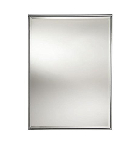 Valsan 53206CR Chrome Essentials Rectangular Framed Mirror with -