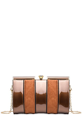 Bronze Fabric Handbags (MKF Collection Elizabeth Bag Clutch Cross body Evening Bag by Mia K Farrow)