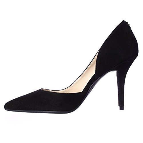 Michael Kors Womens Natalie Flex Leather Pointed Toe D-Orsay, Black, Size 9.5 ()