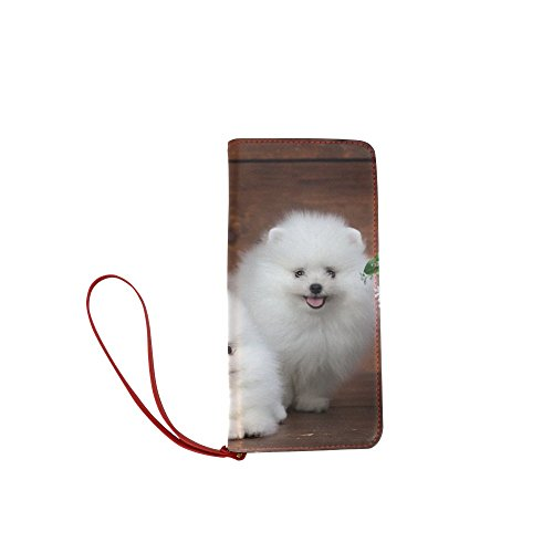 Women's Puppy Dog Pet Clutch Wallet Purse with Wrist Strap (Pets Gnc Shampoo Puppy)