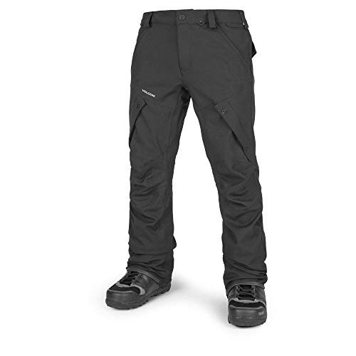 Volcom Men's Articulated Modern Fit Snow Pants, Black, Large