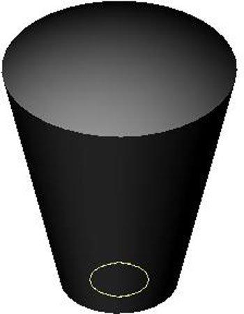 1 Each 1//4-20 thds. Oval//Tapered Plastic Knob w//Black Brass Insert 1 1//8 dia.