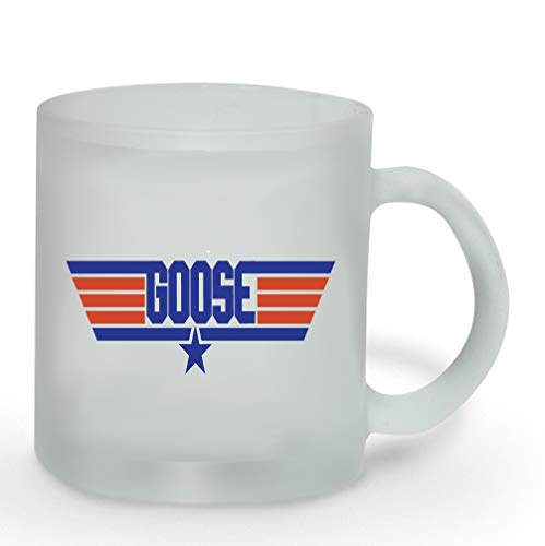 Goose 11 ounce Frosted Glass Coffee Mug Tea Cup -