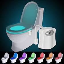 Motion Activated Toilet Night Light, Motion Activated Sensor, Colorful LED Nightlight, 8-Color Changes, Only Activates at Dark
