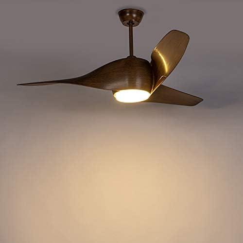 QAZQA Moderno Ventilador de techo con luz y mando a distancia de ...