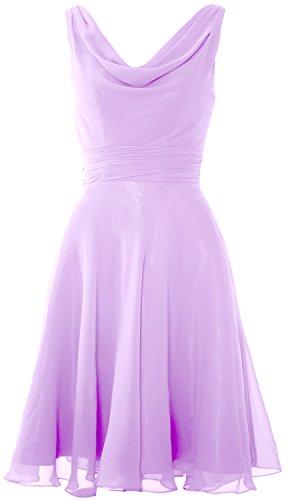 Gown Cowl Wedding Lavender Elegant Bridesmaid Macloth Party Neck Short Dress Cocktail TOznqg7P6