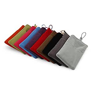 xiao Soft Fiber Pouch Bag for iPhone 3G/3GS/4/4S and Other Cellphones , Purple