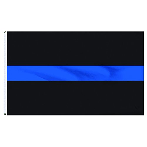 HomeSmith 3'x5' Thin Blue Line Flag Police Law Enforcement O