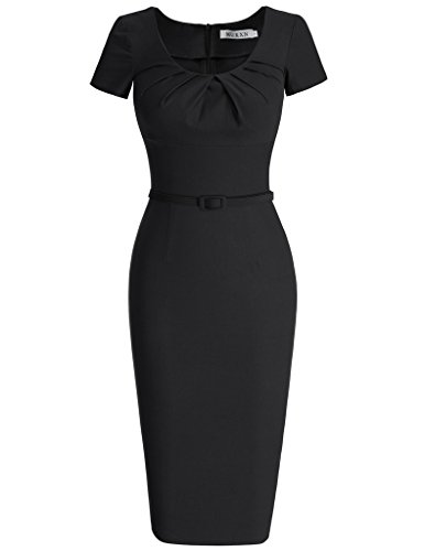 MUXXN Women's Classy Cap Sleeve Empire Waist Cocktail Prom Tea Dress (XL ()
