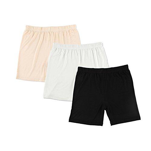 Liang Rou Women's Ultra Thin Stretch Short Leggings Plain Black/Apricot/Off-White XXL -