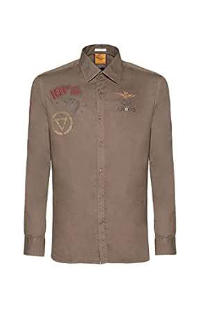 Aeronautica Militare Camisa CA1123, Barro, Hombre, Polo, Sudadera ...