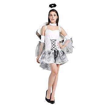 thematys® Disfraz de ángel Blanco para Mujer Cosplay ...