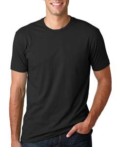 Black Mens Short Sleeve Tee - Next Level Mens Premium Fitted Short-Sleeve Crew T-Shirt - X-Large - Black