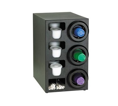 Dispense Rite STL Black Polystyrene Combination Cup Dispensing Cabinet, 24 1/4 x 14 1/2 x 23 inch -- 1 each.