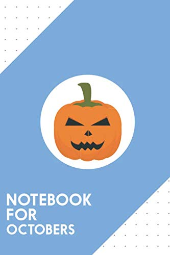 Halloween Pumpkin Head Drawings (Notebook for Octobers: Dotted Journal with Evil Halloween pumpkin Design - Cool Gift for a friend or family who loves holiday presents! | 6x9