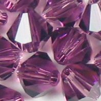 Swarovski Elements Crystal Beads Bicone 5301 / 5328 4mm AMETHYST (48)
