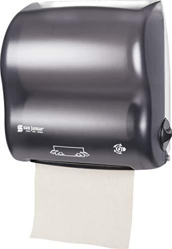 San Jamar T7500TBK Compact Simplicity Hands-Free Mechanical Roll Towel Dispenser, Classic, Black Pearl