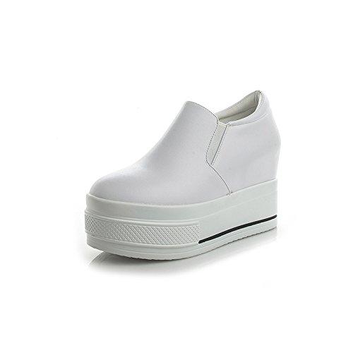 Nueve Blancos Khskx La Fondo Zapatos Mujer Y five Nuevos Un Aumento Grueso Thirty Otoñoblancotreinta Centenar patada De En wFqZ1