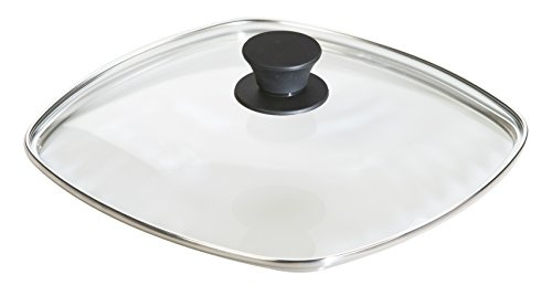 Cast Iron Square Grill Pan (Lodge Square Tempered Glass Lid (10.5 Inch) – Fits Lodge 10.5 Inch Square Cast Iron Skillets and Grill Pans)