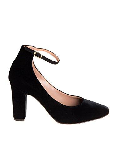 L'Autre Chose Femme LDB26690WP24361001 Noir Suède Chaussures À Talons ORoGVW