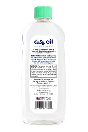 Mountain Falls Baby Oil with Aloe Vera and Vitamin E, Compare to Johnson's, 20 Fluid Ounce