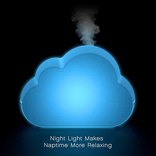 31ITljrEpEL. AC - Pure Enrichment® MistAire™ Cloud - Ultrasonic Cool Mist Humidifier Lasts Up To 24 Hours, 8-Color Night Light For Child Or Baby, Variable Mist, Whisper-Quiet Operation For Nursery Or Bedroom, BPA Free