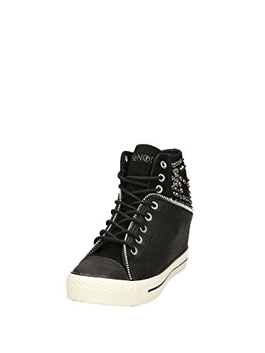 Cafè Noir LDG925010350 010 Nero 35 Sleeved Sneaker With Leather and Felt With Interior Curtains 1kLpbrn1